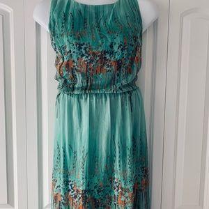 Dressbarn 22w a-line watercolor garden dress